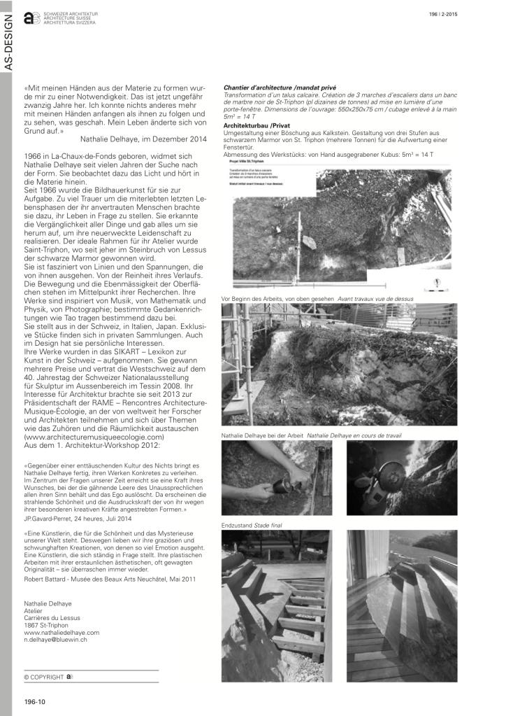 publication Architecture Suisse mars 2015-2
